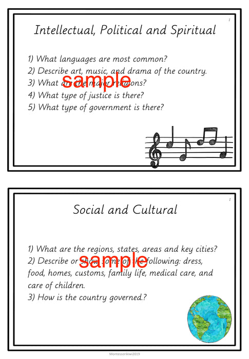 Cultural Geography Projects for 9-12 year olds - montessorikiwi
