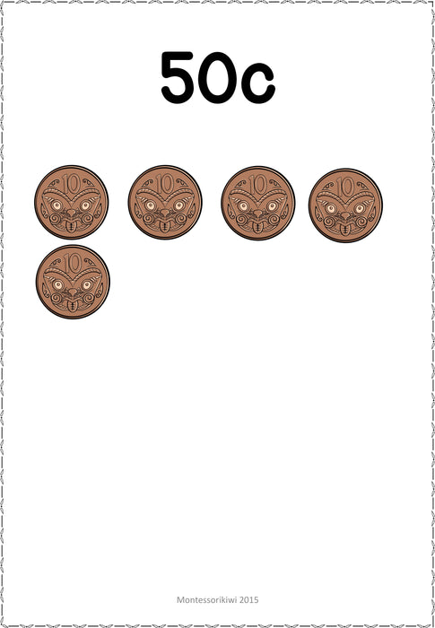 New Zealand Money Level 1: Skip counting to $1 - montessorikiwi