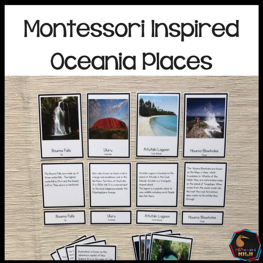 Australia and Oceania Places - montessorikiwi
