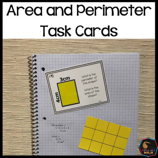 Area and Perimeter task cards - montessorikiwi