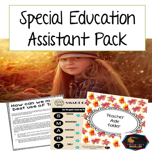 Special Education Assistant Pack - montessorikiwi