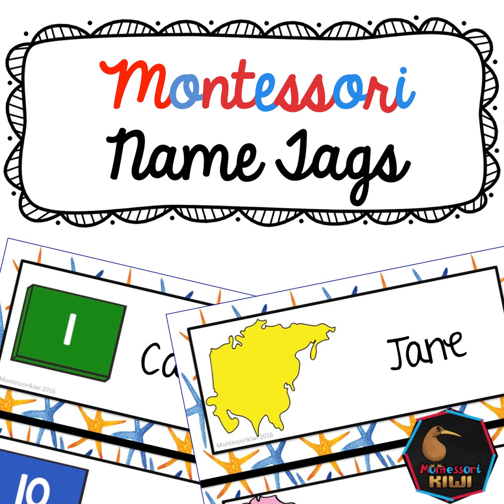 Montessori Name Tags - montessorikiwi