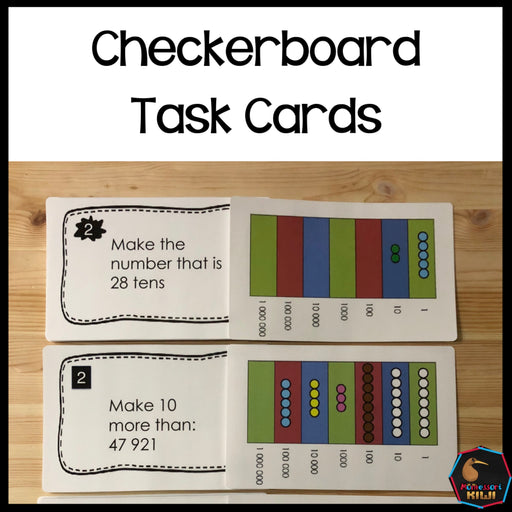 Montessori Checkerboard Task cards - montessorikiwi