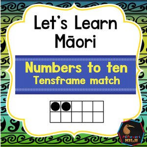 Maori numbers with tens frames