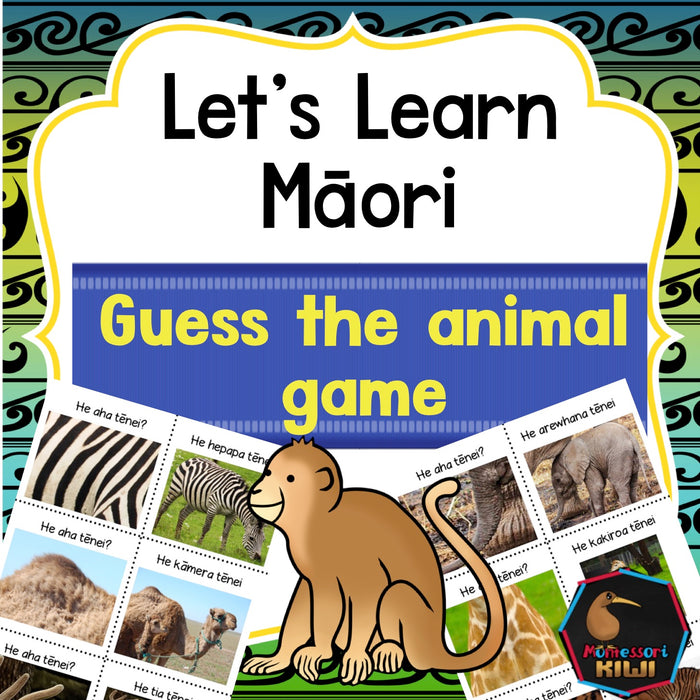 Māori Animal Game - montessorikiwi