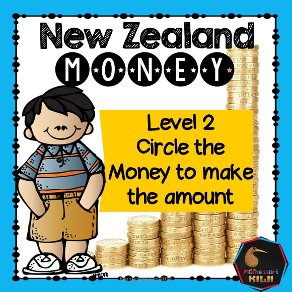 New Zealand Money - circle the money to make the amount