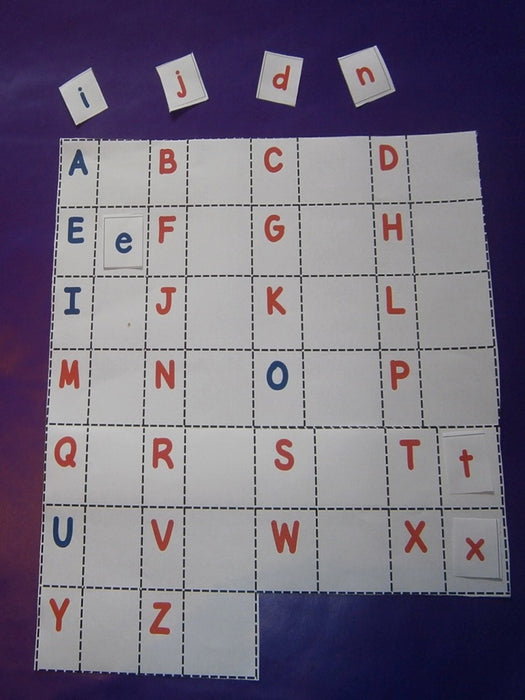 Montessori Alphabet Upper and Lower case letter match up - montessorikiwi