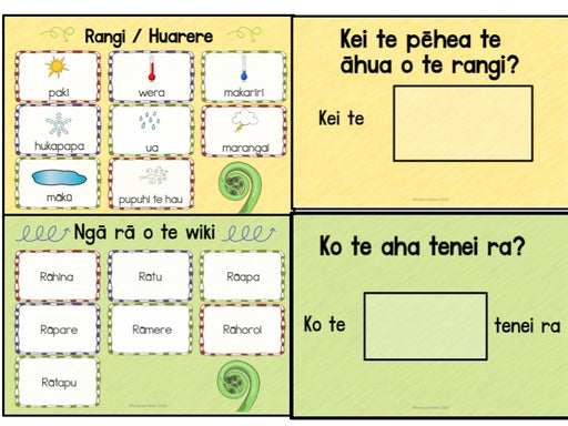 Maori Days, Months and Weather - montessorikiwi