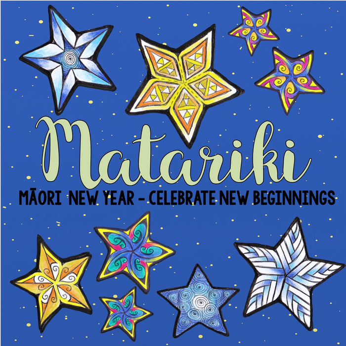 Matariki Collaborative Art Poster - montessorikiwi