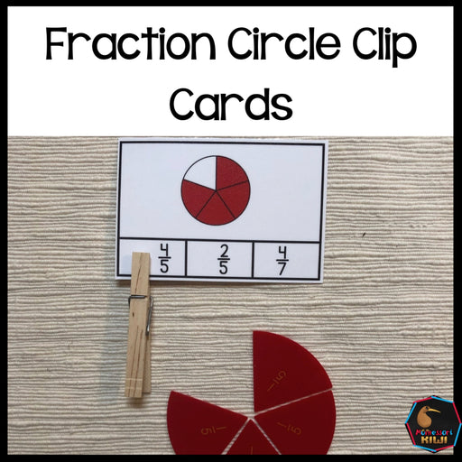 Fraction Circle Clip Cards - montessorikiwi