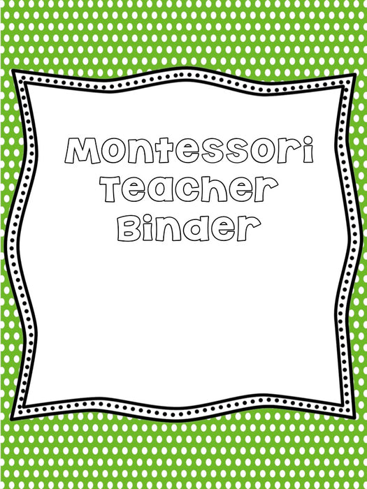 Elementary Teacher Binder - montessorikiwi