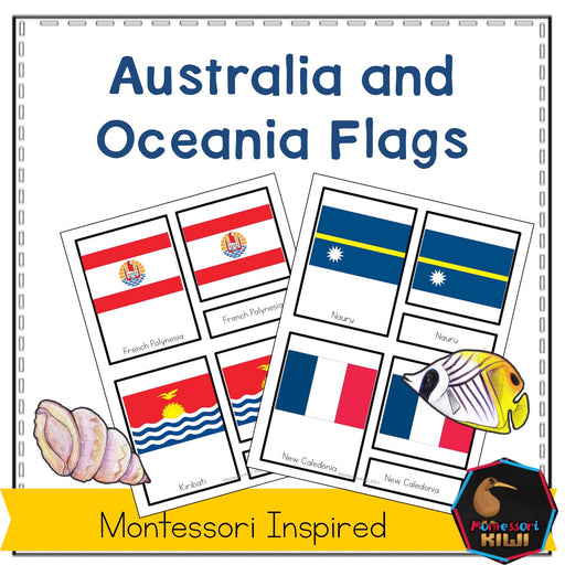Flags of Oceania - montessorikiwi