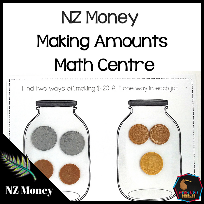 New Zealand Money level 2 make the amount maths activity - montessorikiwi