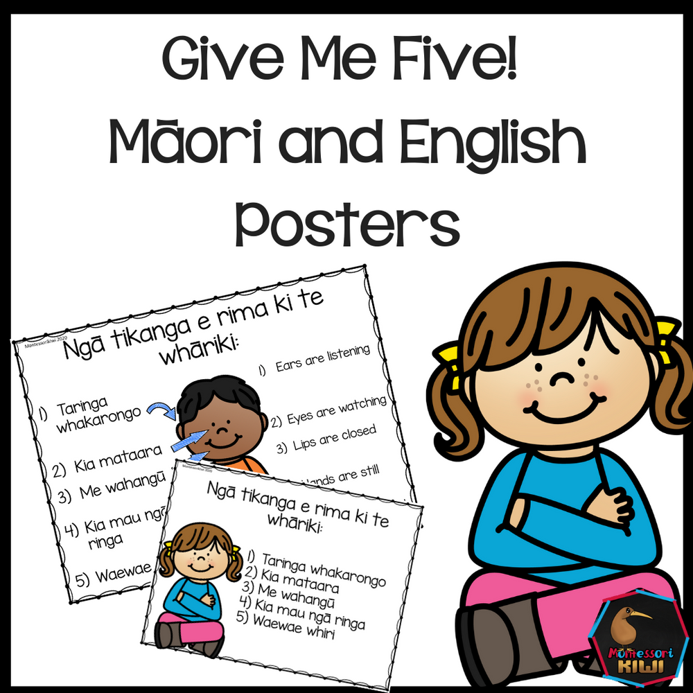 Give me five (Maori and English) - montessorikiwi