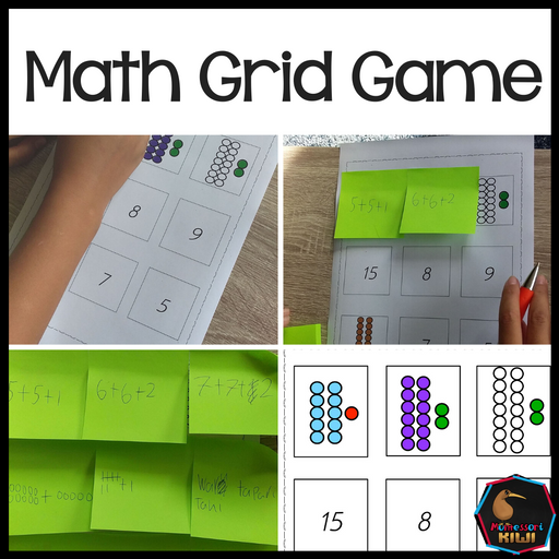 Math Grid Game - montessorikiwi