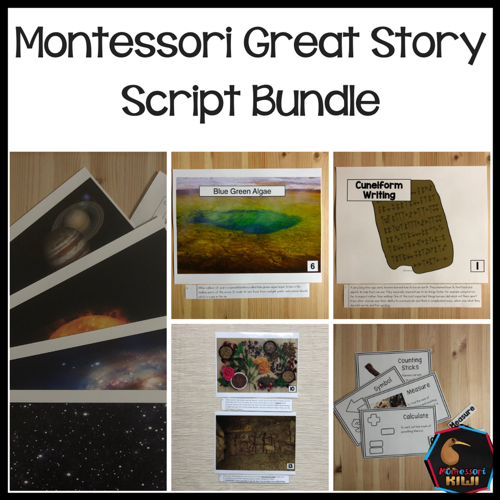 Montessori Great Story Script Bundle - montessorikiwi