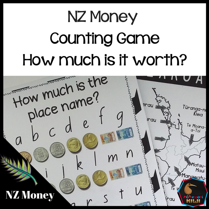 New Zealand Money Level 2:  How much is my name/place name? - montessorikiwi