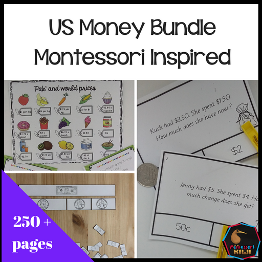 US Money Bundle - montessorikiwi