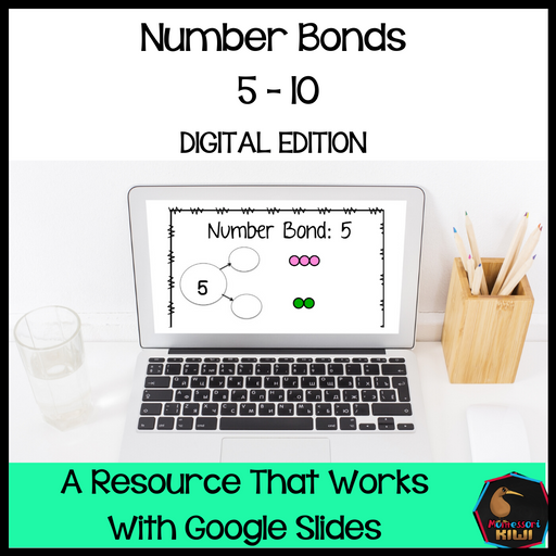 Montessori colored bead number bonds to 10 - Digital Version - montessorikiwi