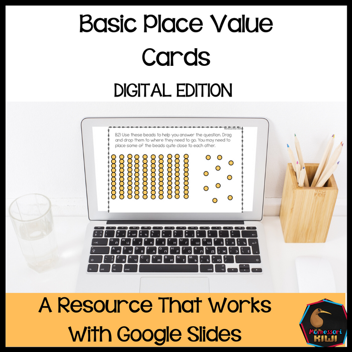 Basic Place Value Cards - Digital Version - montessorikiwi