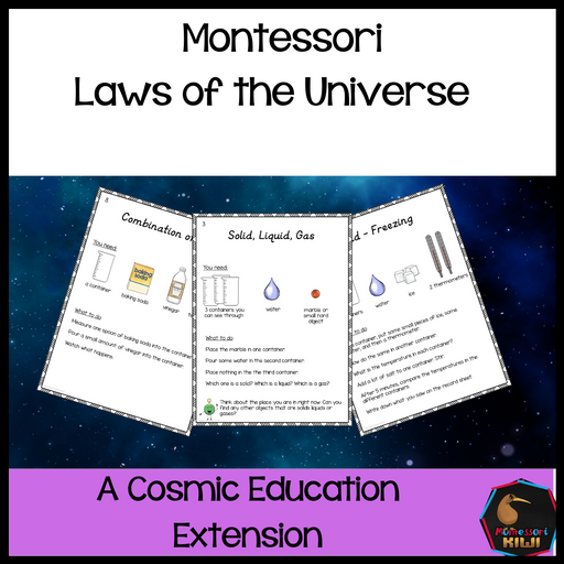 Laws of the Universe - Cosmic extensions - montessorikiwi