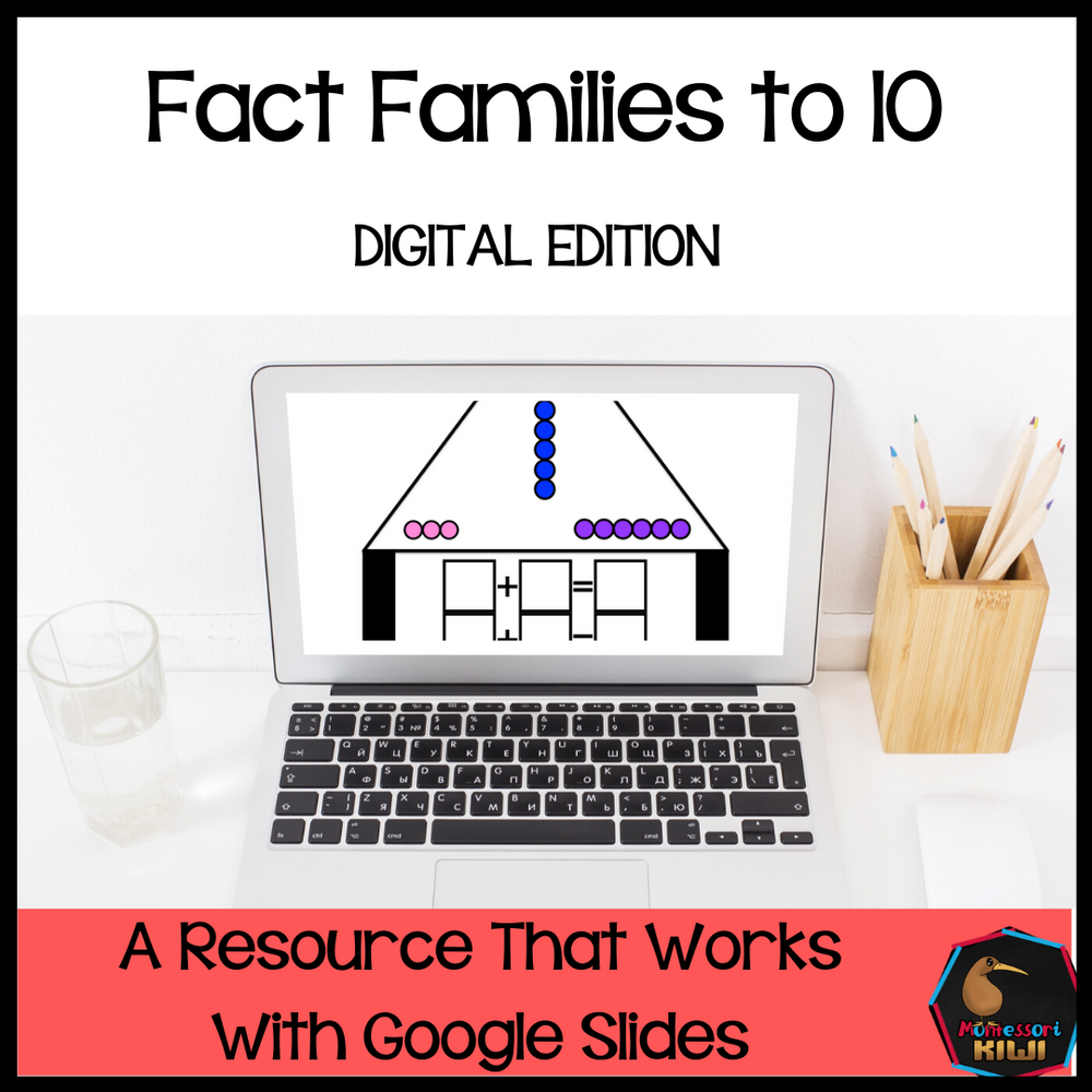 Montessori colored bead fact families (digital version) - montessorikiwi