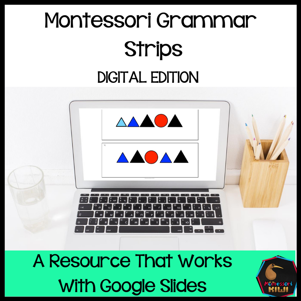 Montessori Grammar Strips - Digital Edition - montessorikiwi