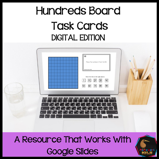 Hundreds board task cards - Digital Version - montessorikiwi