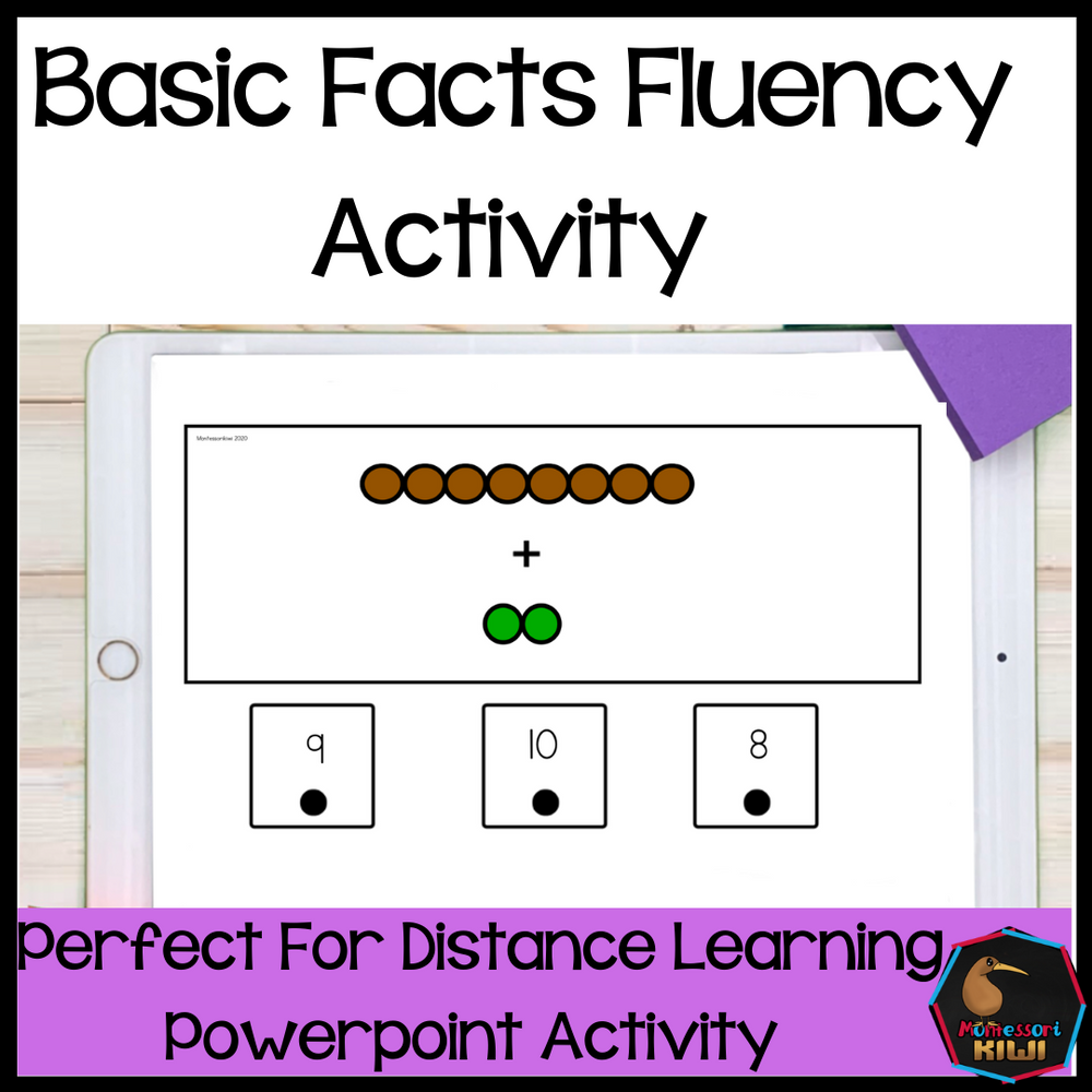 Basic Facts Fluency - Montessori colored bead bars - montessorikiwi