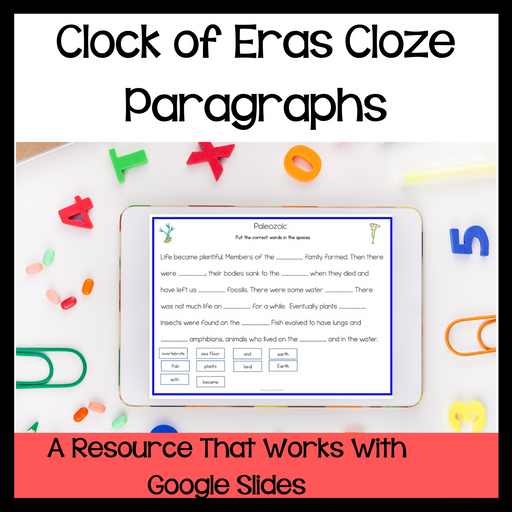 Clock of eras cloze paragraphs - Digital Edition - montessorikiwi