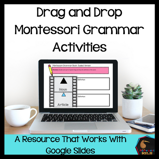 Drag and Drop Montessori Grammar Activities (Digital Edition) - montessorikiwi
