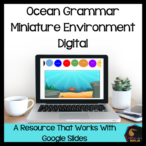 Ocean Grammar Miniature Environment Digital Edition - montessorikiwi
