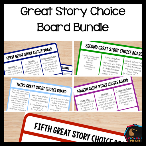 Great Story Choice Board Bundle - montessorikiwi