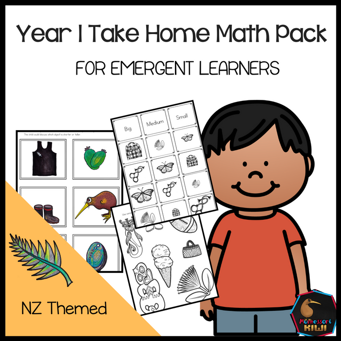 Year 1 Take Home Math for Emergent Learners - montessorikiwi
