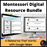 Montessori Digital Resource Bundle - montessorikiwi