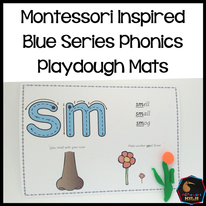Montessori Blue Series Playdough Mats - montessorikiwi