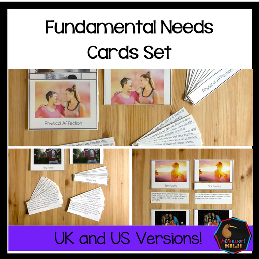 Fundamental Needs of Humans Card Set