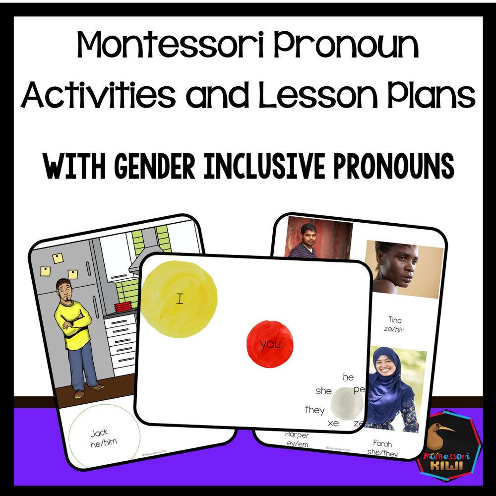 Pronouns Activities and Lesson Plans - Gender Inclusive - montessorikiwi