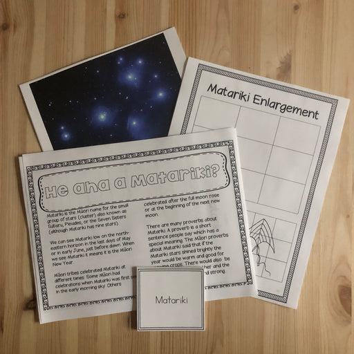 Matariki activities, reading, printables - montessorikiwi