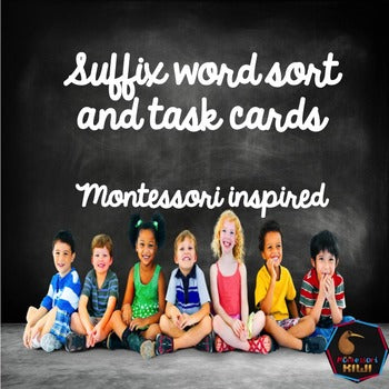 Suffixes Word Sort - montessorikiwi