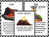 Volcano Posters including words about eruptions
