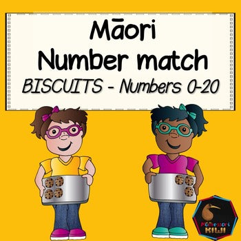 Maori number match 0-20 (biscuits) - montessorikiwi