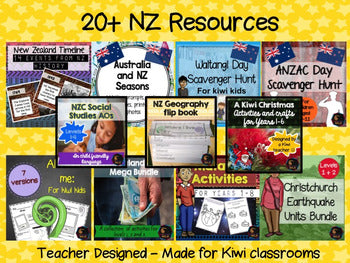 NZ and Māori store bundle - montessorikiwi
