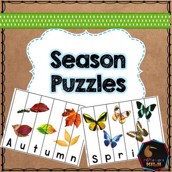 Season Puzzles for Preschool children - montessorikiwi