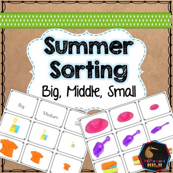 Summer themed math sorting