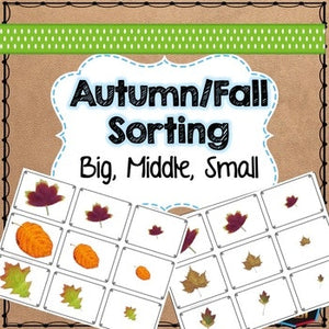Autumn or Fall themed math sorting
