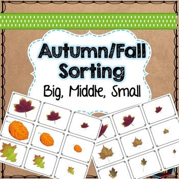 Autumn or Fall themed math sorting - montessorikiwi