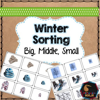 Winter themed math sorting - montessorikiwi