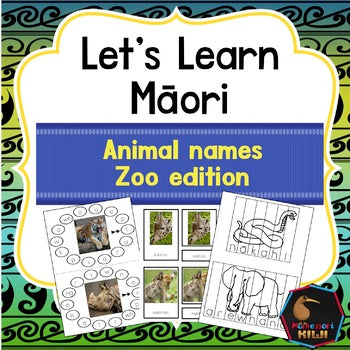 Maori Animal Activity pack - montessorikiwi