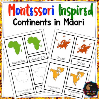 Maori continents (Montessori Inspired) - montessorikiwi